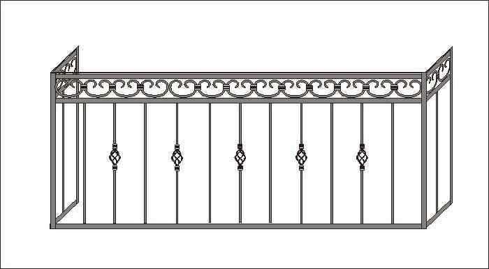 Кованые балконные ограждения от 1500 р м2 - каталог эскизов .