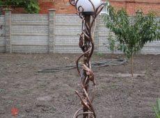 кованый фонарь столб