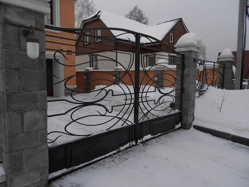 кованые ворота модерн на заказ