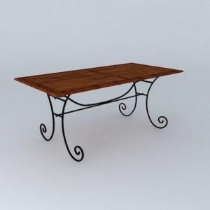 Обеденный кованый стол