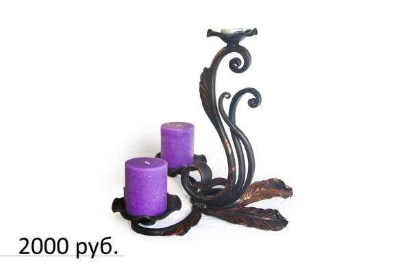 Подсвечник кованый 09 на 3 свечи